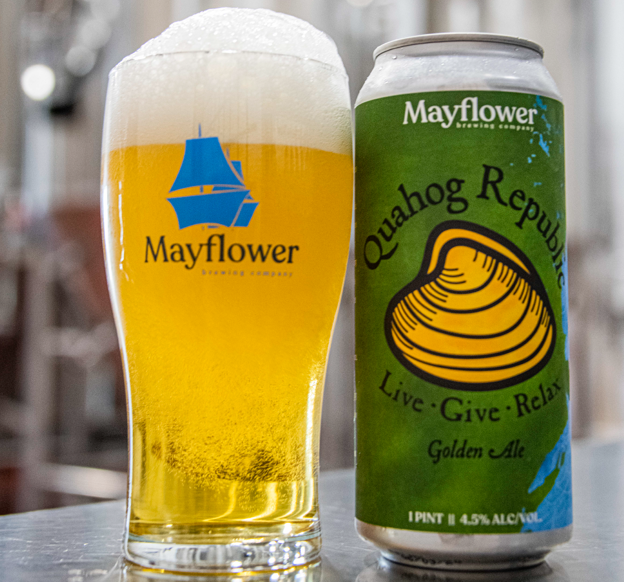 Enjoy our Quahog Republic Golden Ale!